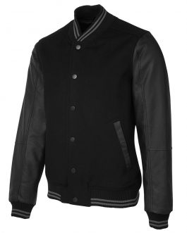 Art Leather Baseball Jacket