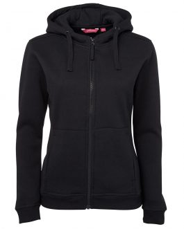 Ladies Full Zip Fleece Hoodie
