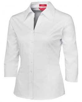 Ladies 3/4 Fitted Shirt