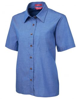 JB's Ladies Original S/S Indigo Chambray Shirt