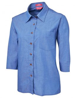 JB's Ladies Original 3/4 Indigo Chambray Shirt