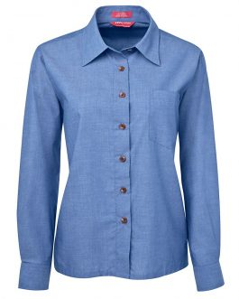 JB's Ladies Original L/S Indigo Chambray Shirt