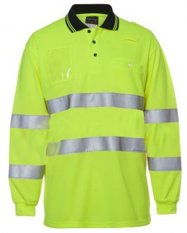 Hi Vis Bio Motion (D+N) L/S Polo with 3M Tape