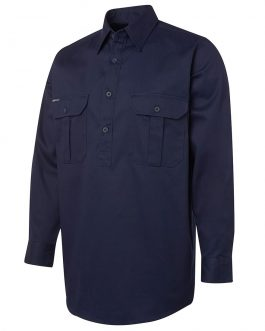 L/S 190G Close Front Work Shirt