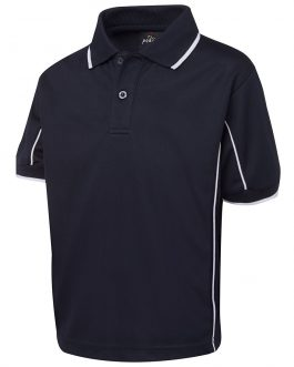 Kids S/S Piping Polo