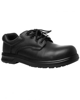 Microfibre Lace Up Steel Toe Shoe
