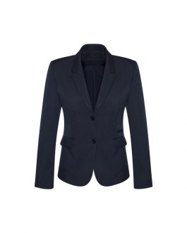 LADIES 2 BUTTON MID LENGTH JACKET