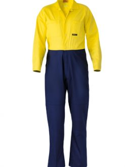 2 Tone Hi Vis Coveralls Regular Weight