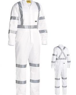 3m Taped White Drill coverall