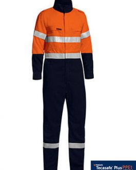 Tencate Tecasafe® Plus Taped Two Tone Hi Vis Lightweight coverall