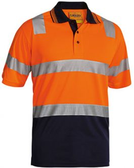 3m Taped Hi Vis Two Tone Micromesh polo shirt – short sleeve