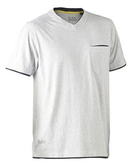 Flex & Move™ Cotton Rich V Neck Short sleeve tee