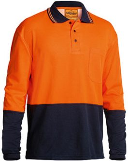 2 Tone Hi Vis Polo shirt – long sleeve
