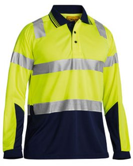 3m Taped Hi Vis Two Tone Micromesh polo shirt – long sleeve