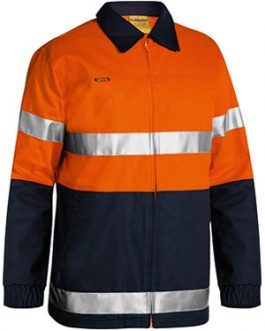 2 Tone Hi Vis Drill Jacket 3m reflective tape