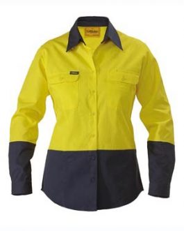 Womens 2 Tone Hi Vis Drill Shirt – long sleeve