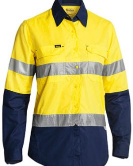 Womens 3m Taped Hi Vis x Airflow™ ripstop shirt