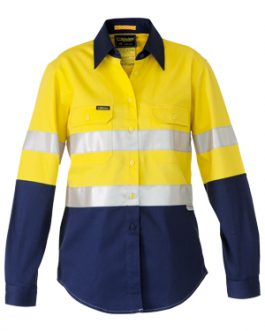 3m Taped 2 Tone Womens Hi Vis Industrial cool vent shirt