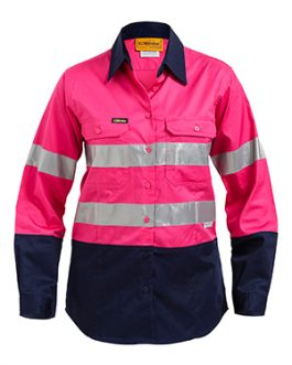 Womens 3m Taped Two Tone Hi Vis Cool Lightweight shirt – long sleeve