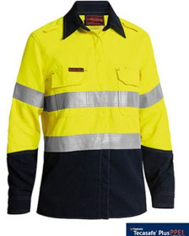 Women's Taped Two Tone Fr Hi Vis Lightweight vented long sleeve shirt