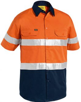 3m Taped Two Tone Hi Vis Cool Lightweight shirt – short sleeve