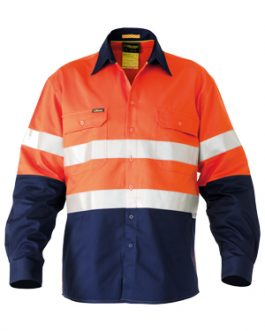 3m Taped 2 Tone Hi Vis Mens Industrial Cool vent shirt