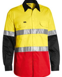 3m Taped Hi Vis Cool Light Weight three tone long sleeve shirt