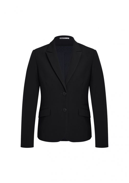 WOMENS TWO BUTTON MID LENGTH JACKET