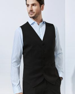 GENTS PEAKED VEST WITH KNITTED BACK